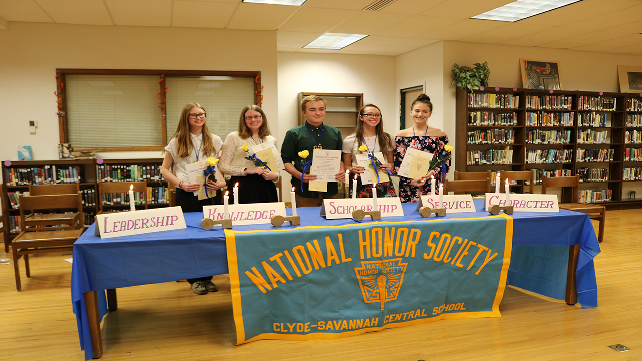Clyde-Savannah National Honor Society inducts five new members
