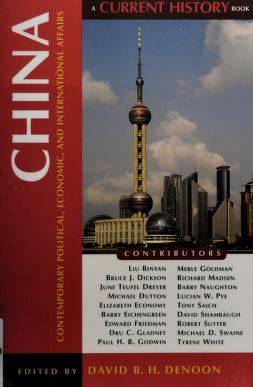 Cover of: China | edited by David B. H. Denoon.