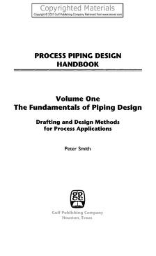 Process piping design handbook by Peter Smith