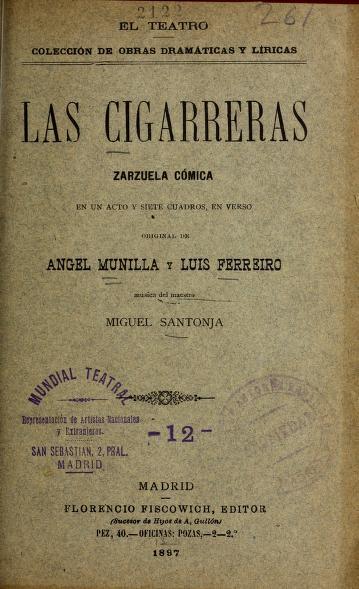 Cover of: Las cigarreras | Miguel Santonja