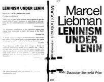 Cover of: Leninism Under Lenin
